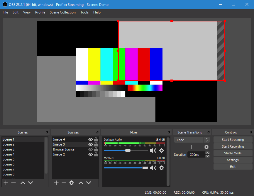 Open Broadcaster Software (OBS) screenshot