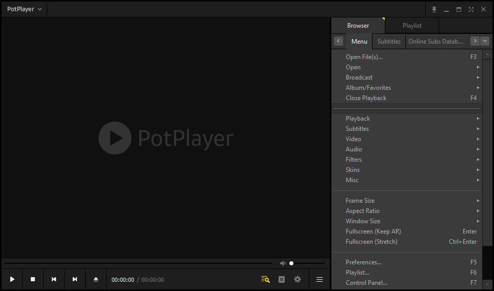 PotPlayer screenshot