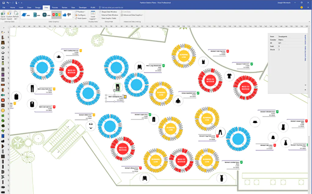 microsoft visio mind map software
