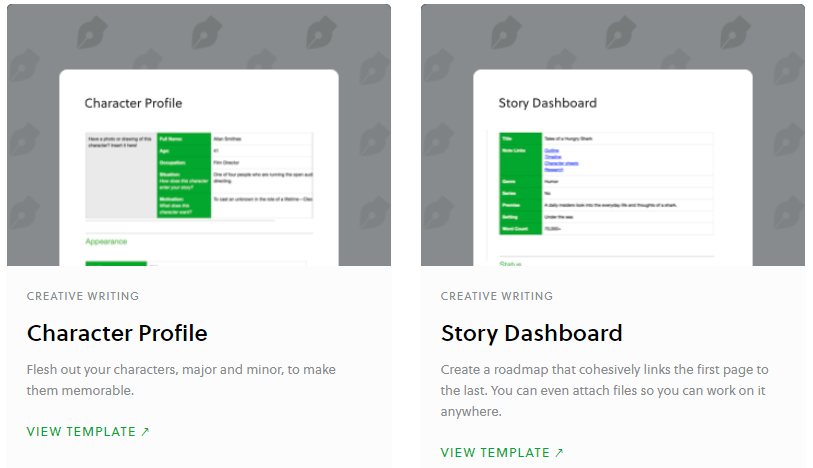 note-taking templates evernote
