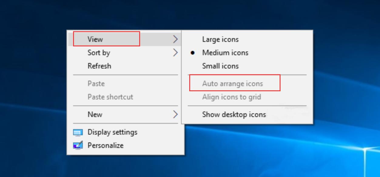 Auto arrange icons