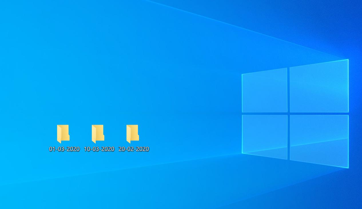 Organize Folders by Date